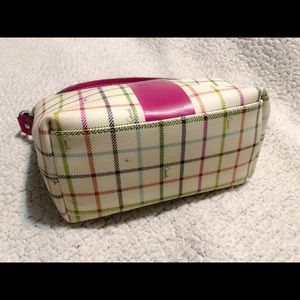 Coach Bags - Coach Heritage Tattersall Multi Color Cosmetic Bag